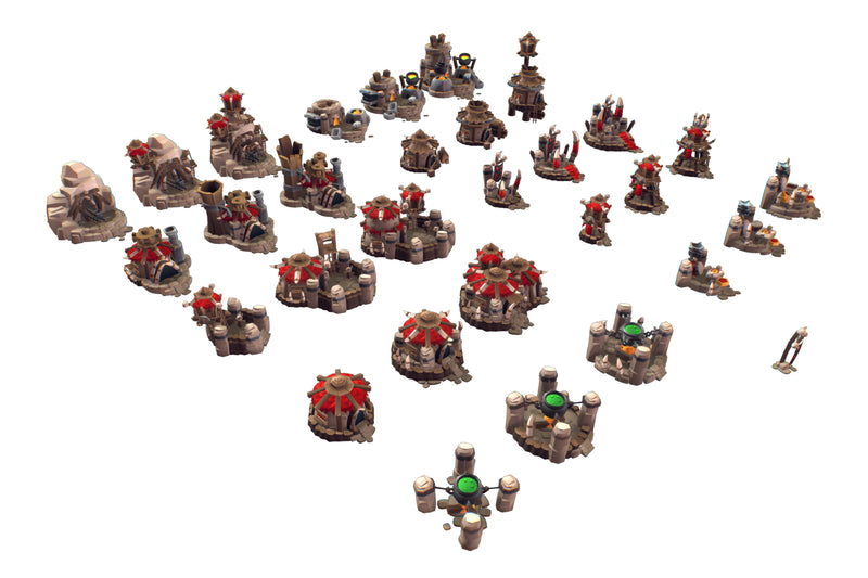 Orc RTS Building Set - Proto Series