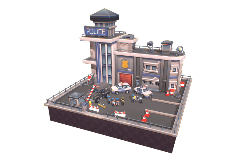 Buildings - Police Station - Proto Series