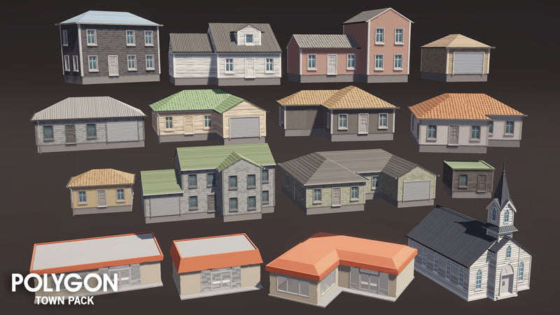 Buildings - POLYGON - Town Pack - Synty