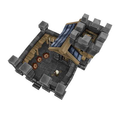 Buildings - RTS Human Barracks - Low Poly 3D Model