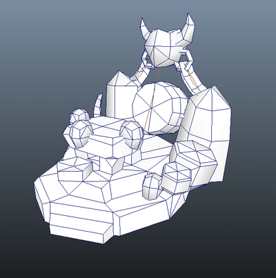 Buildings - RTS Orc Altar - Low Poly 3D Model