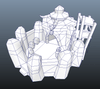 Buildings - RTS Orc Barracks - Low Poly 3D Model