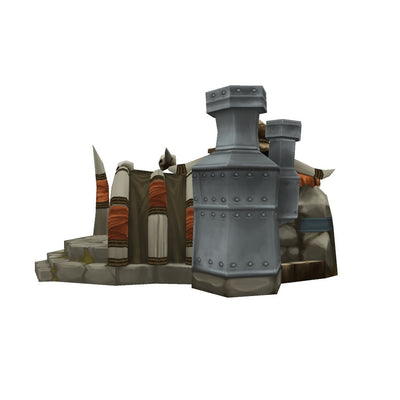 Buildings - RTS Orc Factory - Low Poly 3D Model
