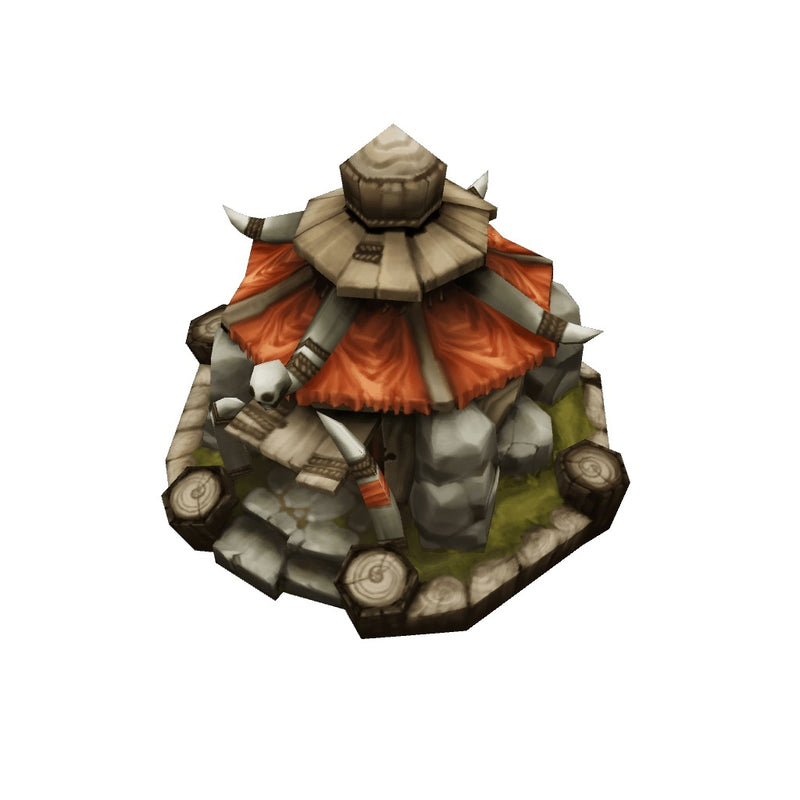 Buildings - RTS Orc Hut - Low Poly 3D Model