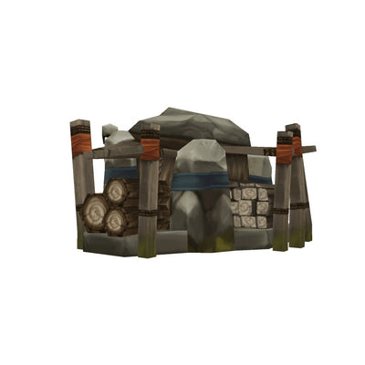 Buildings - RTS Orc Lumber Jack - Low Poly 3D Model