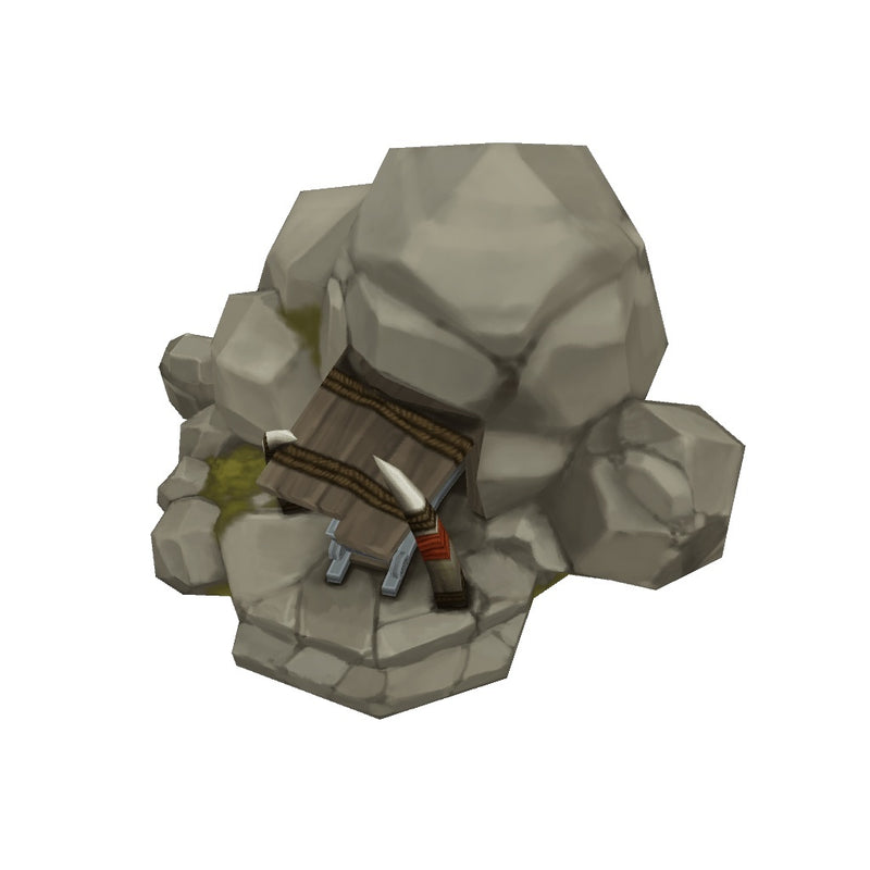Buildings - RTS Orc Mine - Low Poly 3D Model