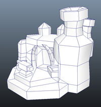 Buildings - RTS Orc Smithy - Low Poly 3D Model