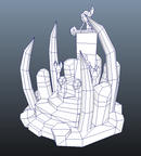 Buildings - RTS Orc Throne - Low Poly 3D Model