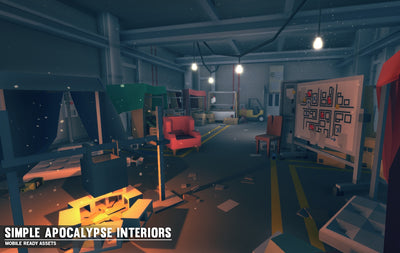 Buildings - Simple Apocalypse Interiors - Cartoon Assets - Synty
