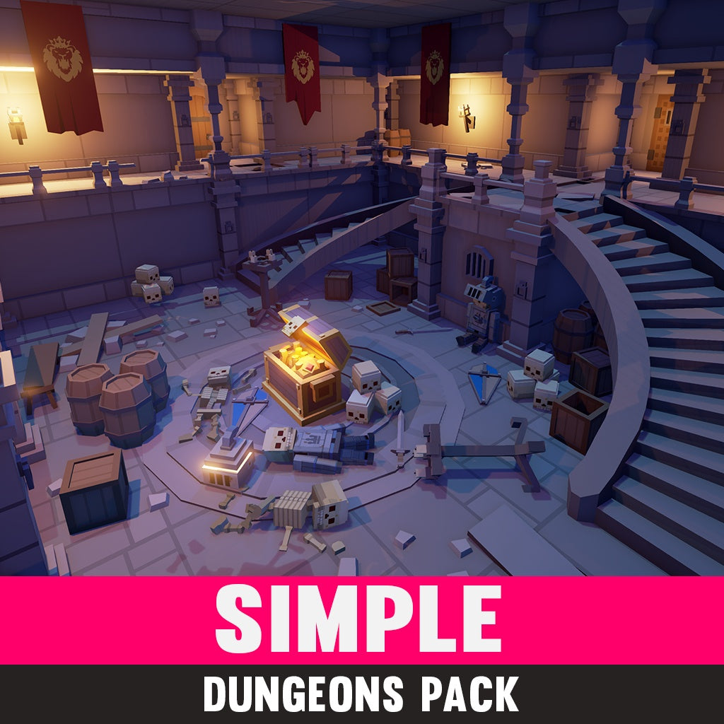 Simple Dungeons - Cartoon Assets - Synty