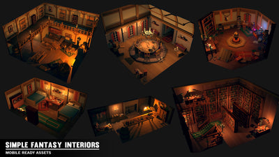 Buildings - Simple Fantasy Interiors - Cartoon Assets - Synty