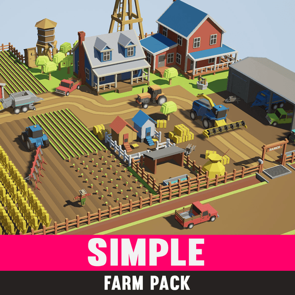 Buildings - Simple Farm - Cartoon Assets - Synty