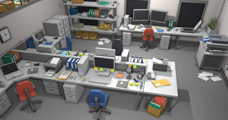 Buildings - Simple Office Interiors - Cartoon Assets - Synty