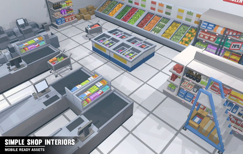 Buildings - Simple Shop Interiors - Cartoon Assets - Synty
