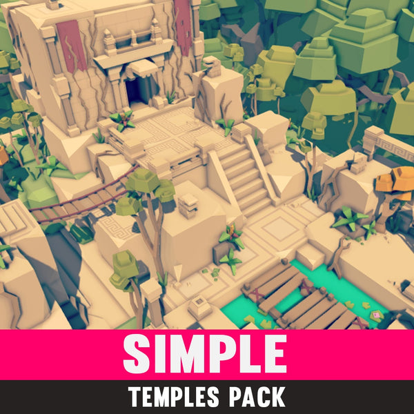 Buildings - Simple Temples - Cartoon Assets - Synty