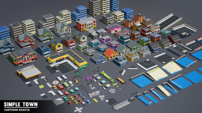 Buildings - Simple Town - Cartoon Assets - Synty