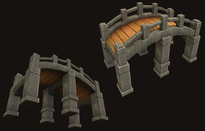 Buildings - Tileable Bridge Pack - ZugZug Studio