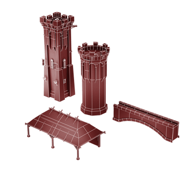 Buildings - Top Down Medieval Castle