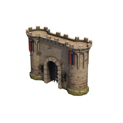 Buildings - Top Down Medieval Castle - Polygrade