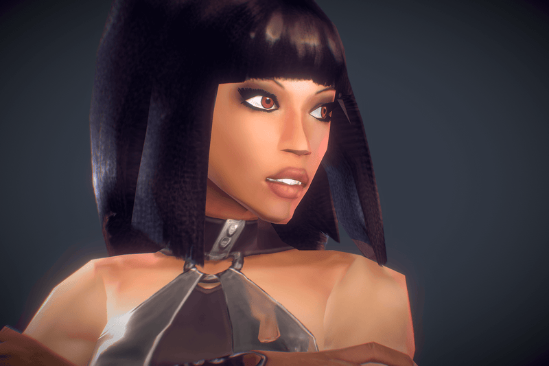 Aleysha Low Poly Female Heroine