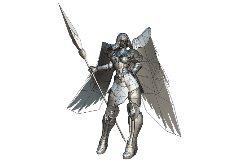 Angelic Female Warrior