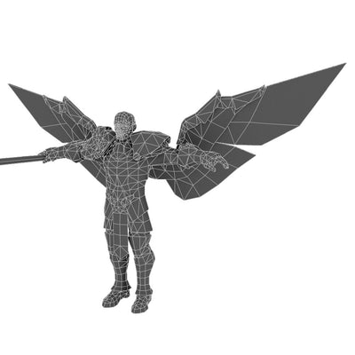 Character - Angelic Warrior Male - Low Poly 3D Model
