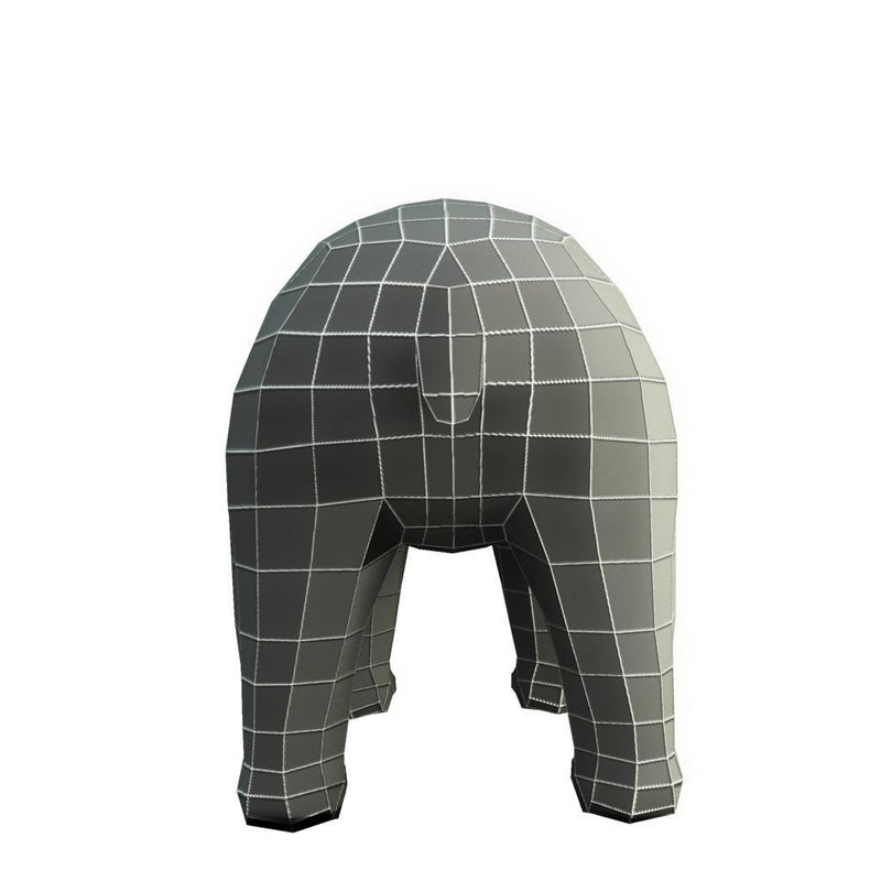 Character - Base Mesh Bear - Low Poly 3D Model