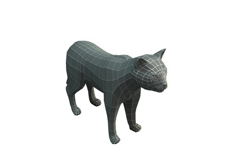 Character - Base Mesh Cat - Low Poly
