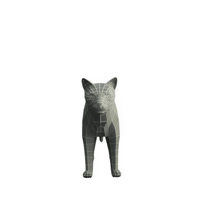 Character - Base Mesh Cat - Low Poly 3D Model