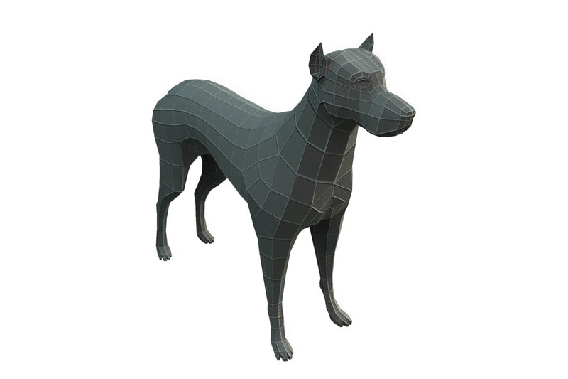 Character - Base Mesh Dog - Low Poly