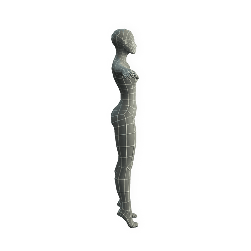 Character - Base Mesh Female - Low Poly 3D Model
