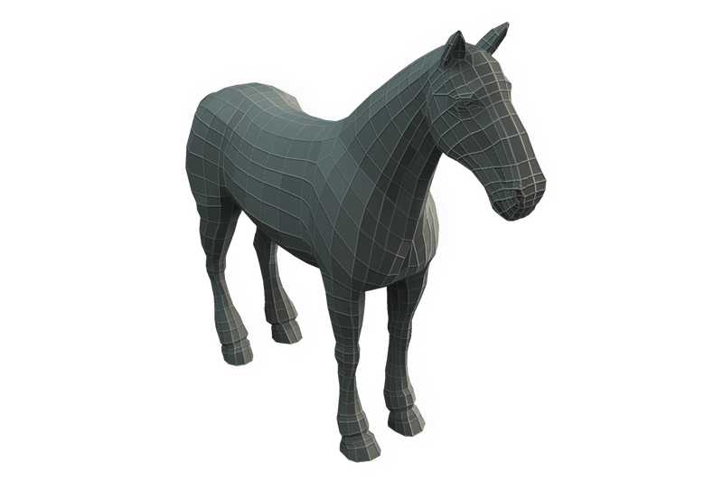 Character - Base Mesh Horse - Low Poly