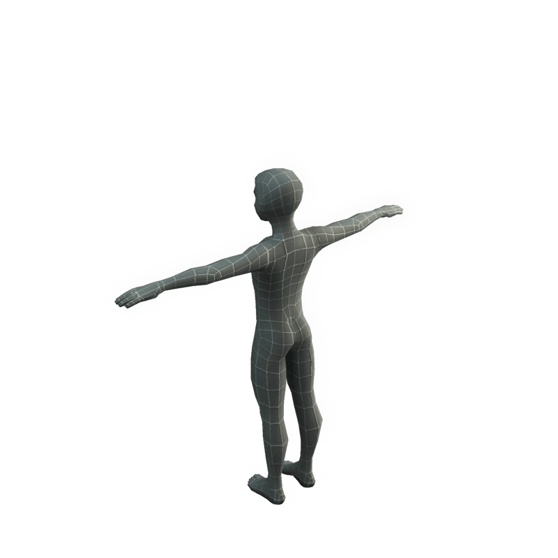 Character - Base Mesh Kid - Low Poly 3D Model