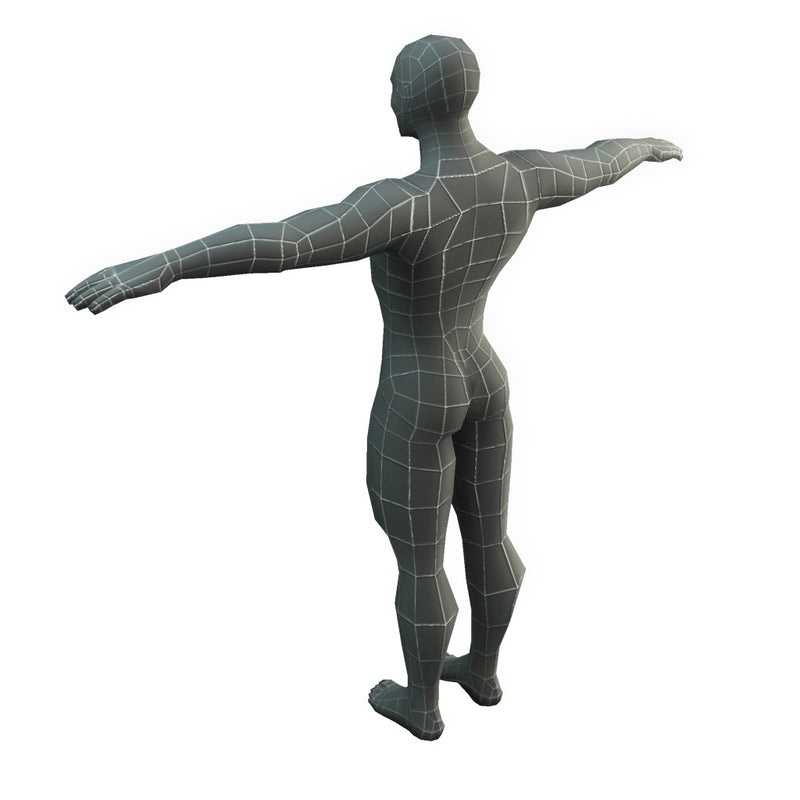 Character - Base Mesh Male - Low Poly 3D Model
