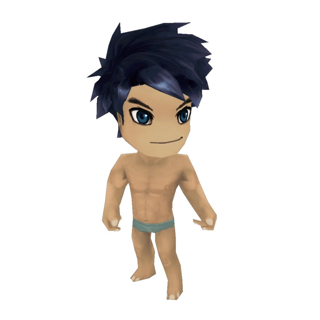 Character chibi guy base low poly 3d model