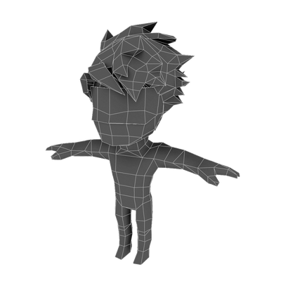 Character - Chibi Guy Base - Low Poly 3D Model