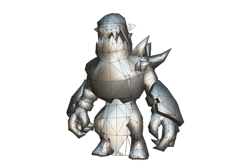 Demon Grunt - Low Poly Hand Painted