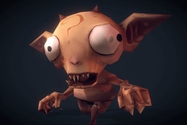 Character - Demon Imp - Low Poly Hand Painted