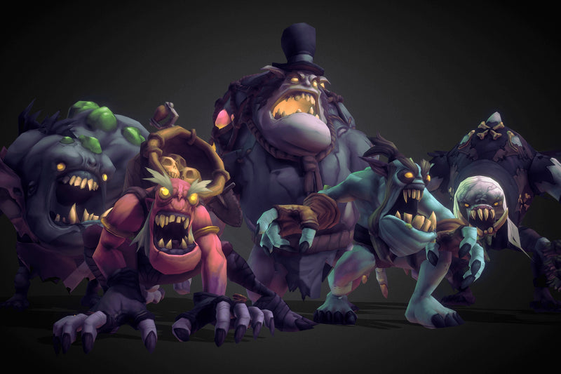 Character - Ghoul Monsters - Hand Painted 3D Characters