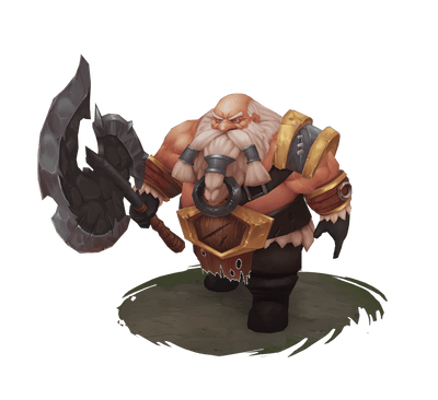 Character - Hand Painted Battle Dwarf With Axe