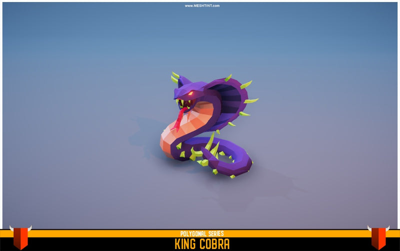 Character - King Cobra - Polygonal Series - MeshTint