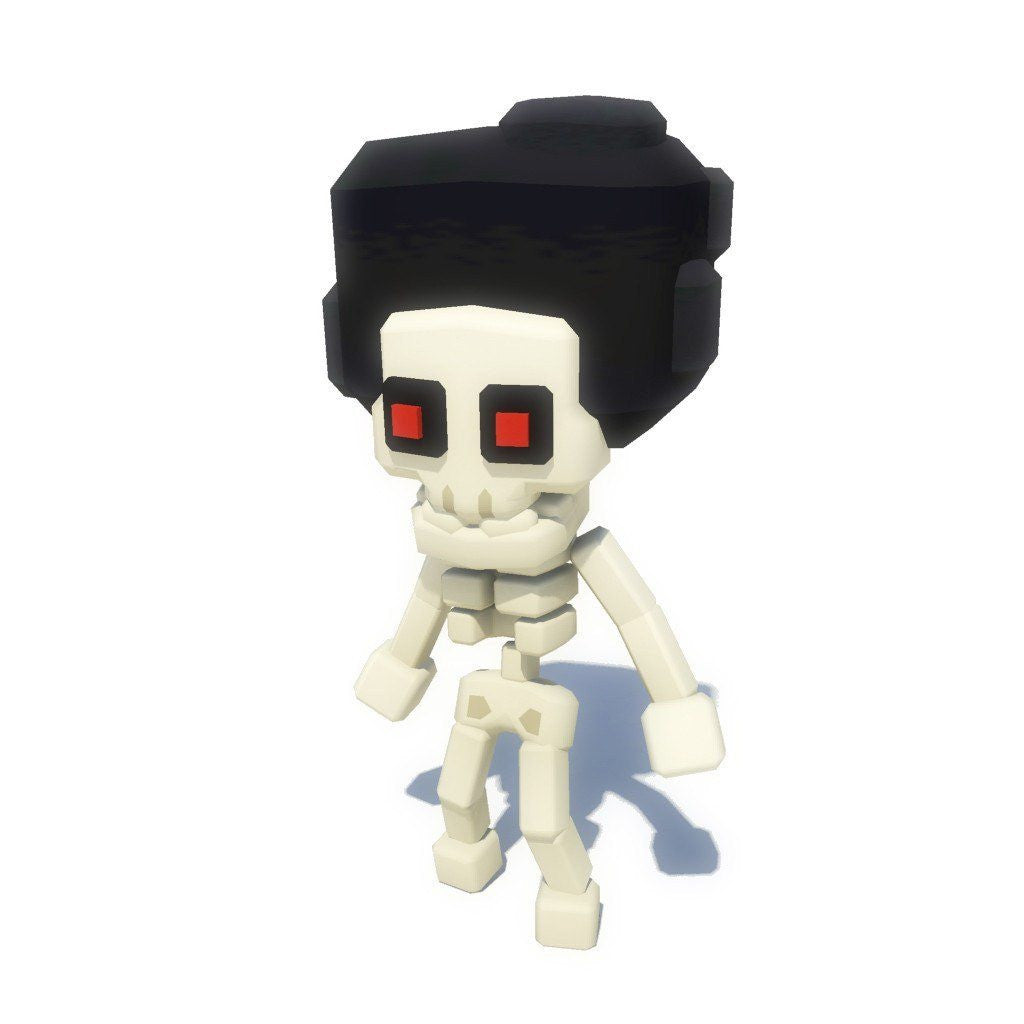 Character - Low Poly Generic Skeleton - Smashy Craft Series