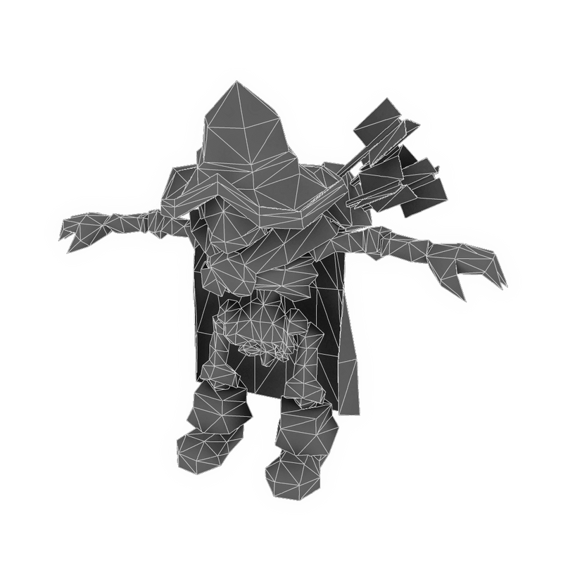 Character - Low Poly Skeleton Archer