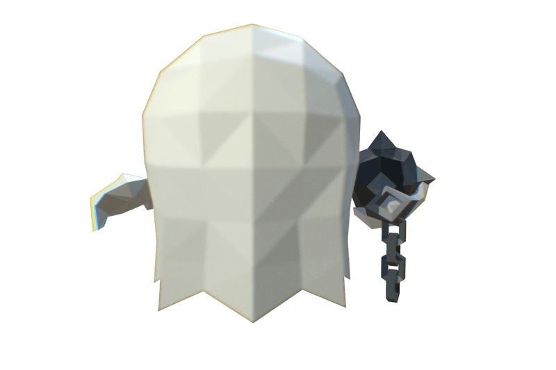 Character - Micro Ghost Hubert - Faceted Style