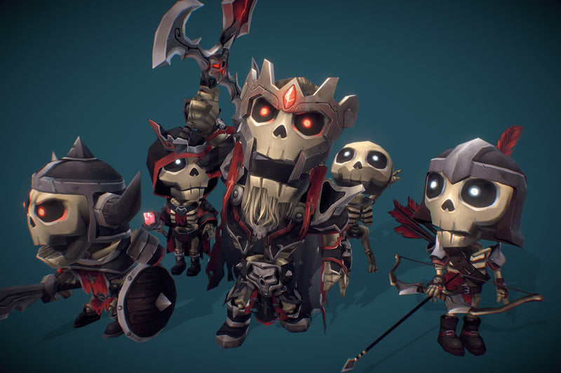 Character - Mini Skeleton Swarm Pack