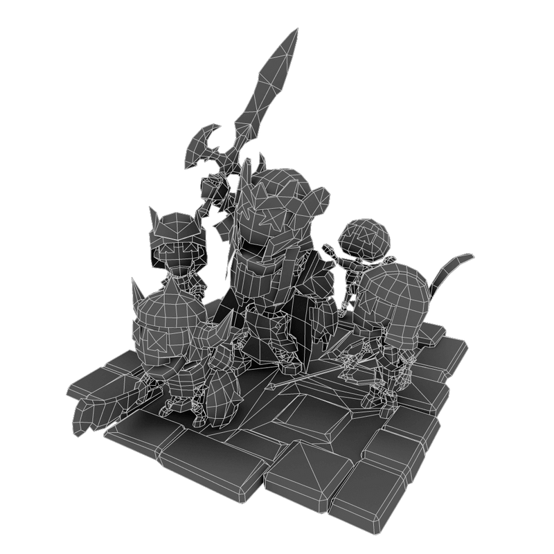 Character - Mini Skeleton Swarm Pack - Low Poly 3D Models