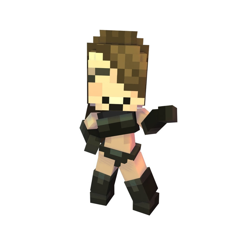 Character - Pixel Girl - Low Poly 3D Model