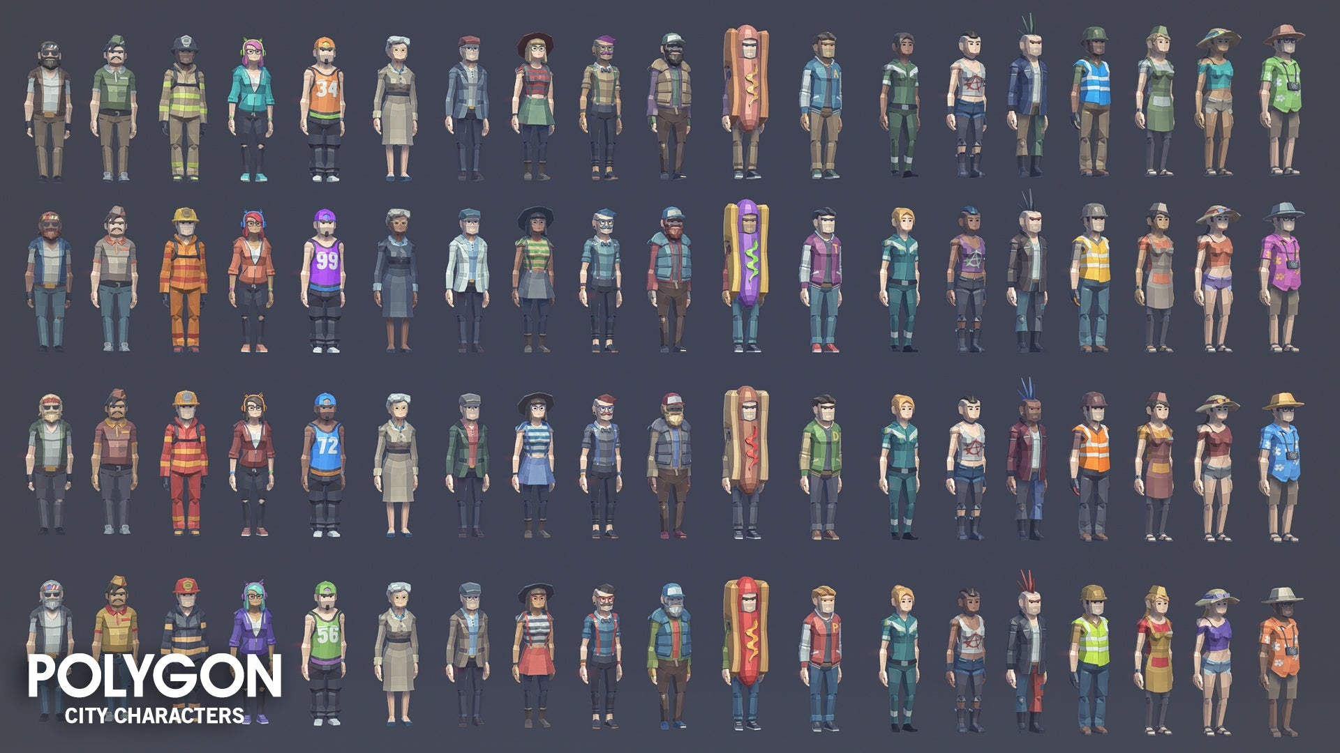 Unity Asset] POLYGON - City Characters | Board4All