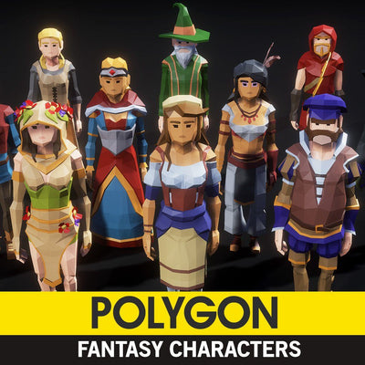 Character - POLYGON - Fantasy Characters Pack - Synty