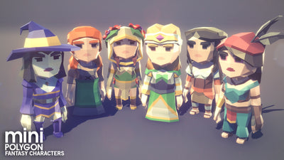 Character - POLYGON MINI - Fantasy Characters Pack - Synty